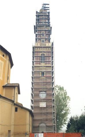 Restauro e consolidamento campanile lesionato dal terremoto