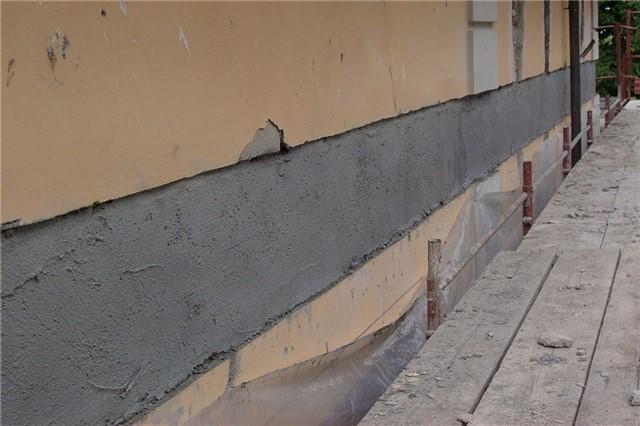 Rinforzo edificio con cerchiatura di tessuto P.B.O. in matrice inorganica