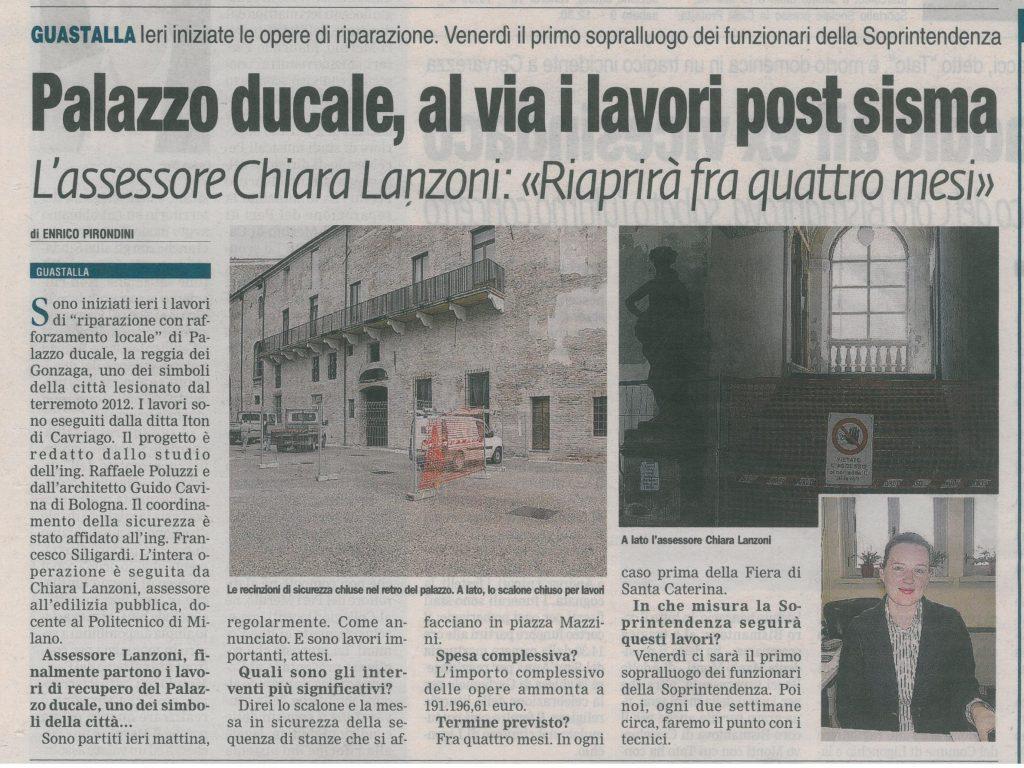lavori Palazzo Ducale guastalla iton