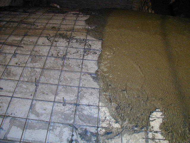 Applicazione del betoncino