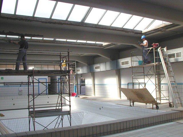 Restauro intradosso copertura piscina - ITON SRL