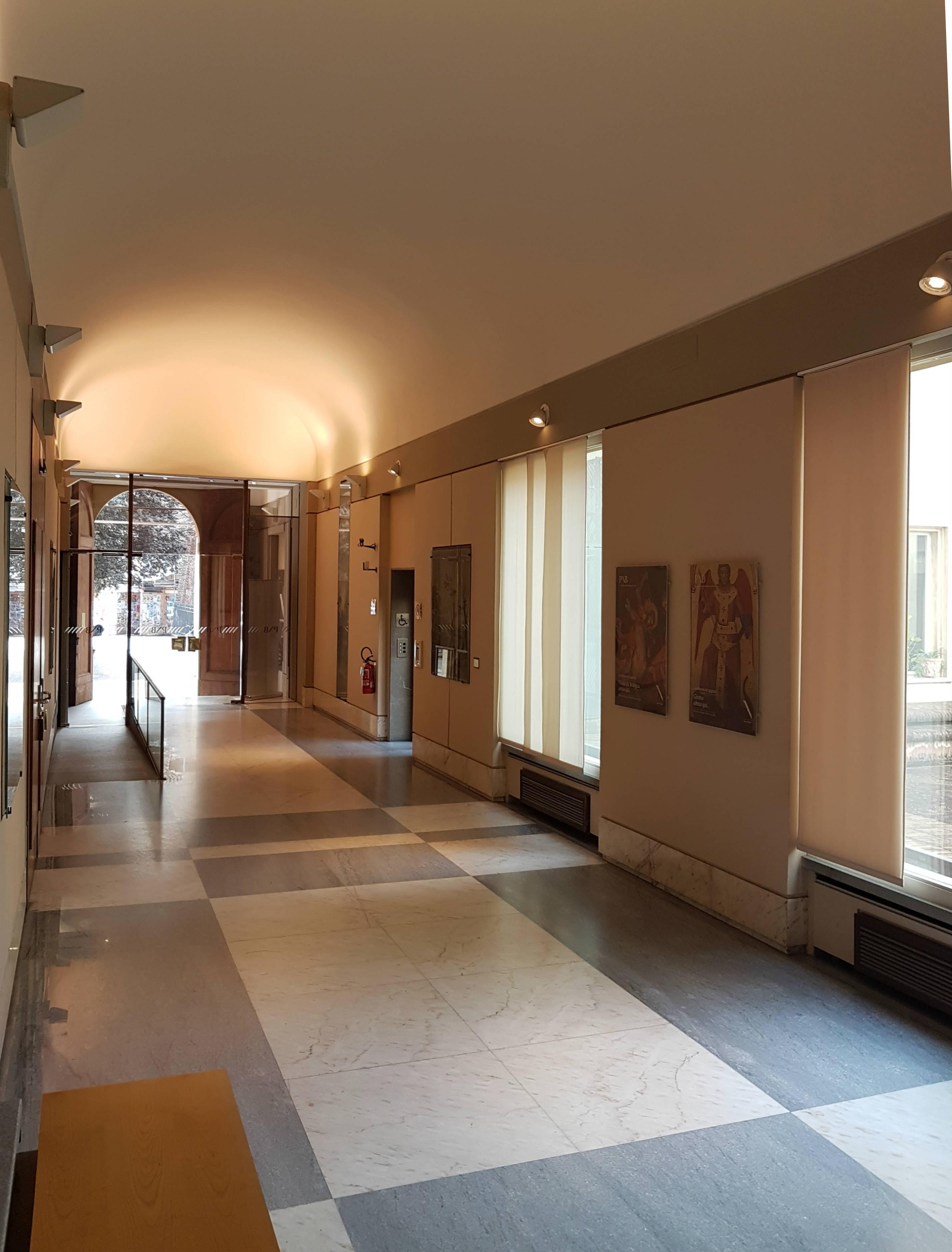 ITON SRL. Sostituzione struttura ascensore nella sede della Pinacoteca Nazionale in via delle Belle Arti (BO).