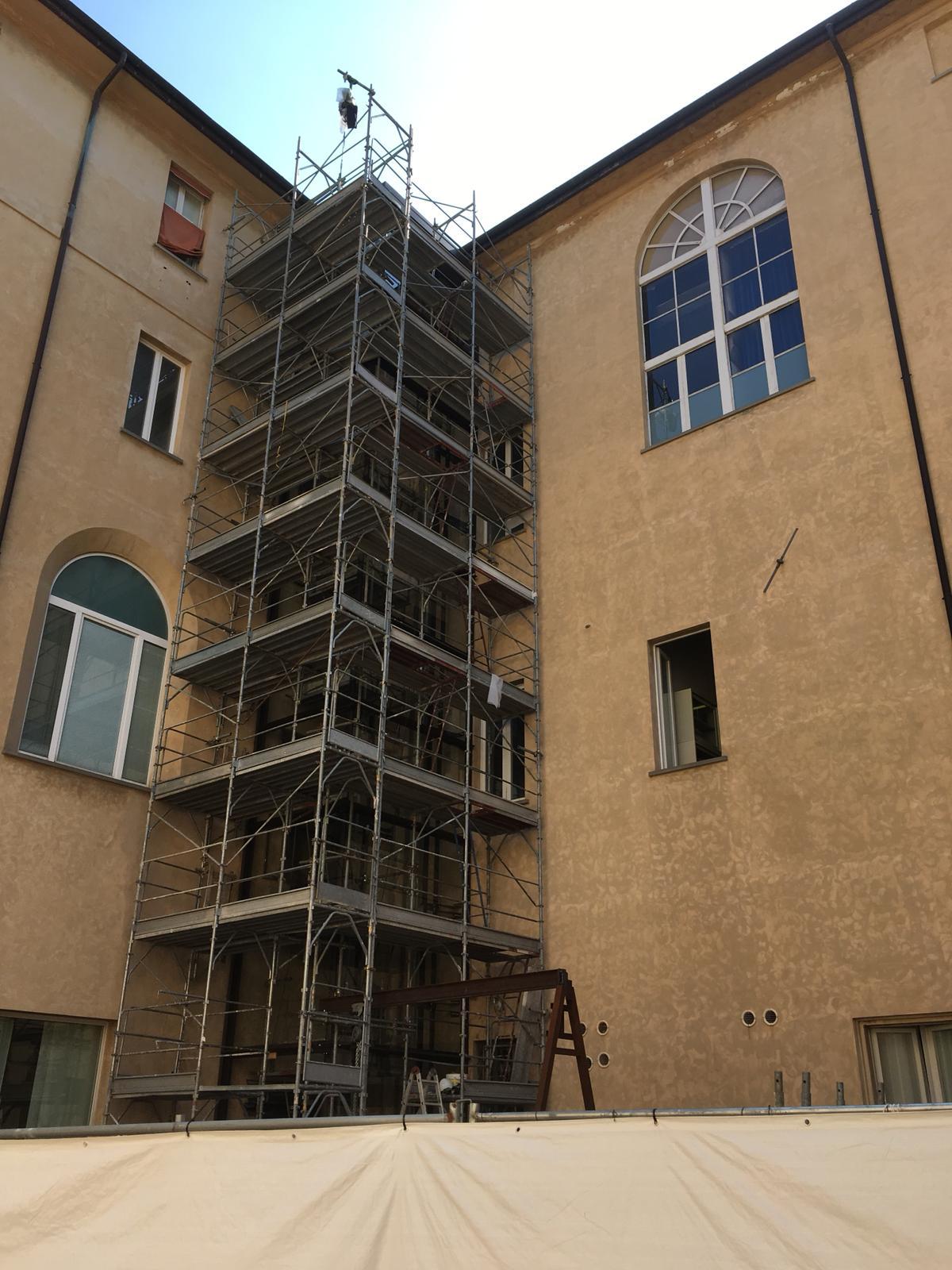 ITON SRL: Sostituzione struttura ascensore nella sede della Pinacoteca Nazionale in via delle Belle Arti (BO).