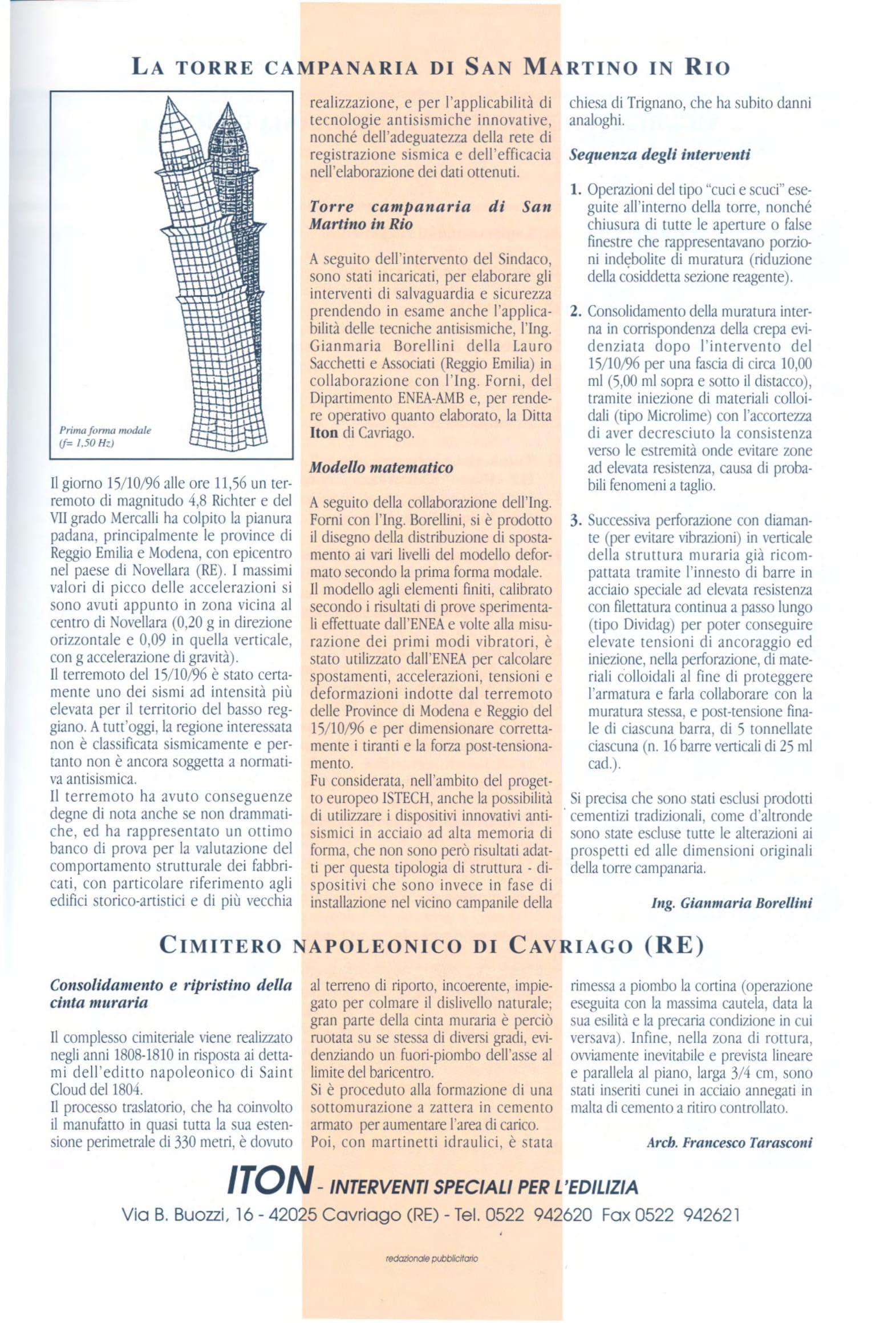 Ing. Carlo Dazzi - Un nuovo sistema di restauro strutturale, assieme ad ITON SRL