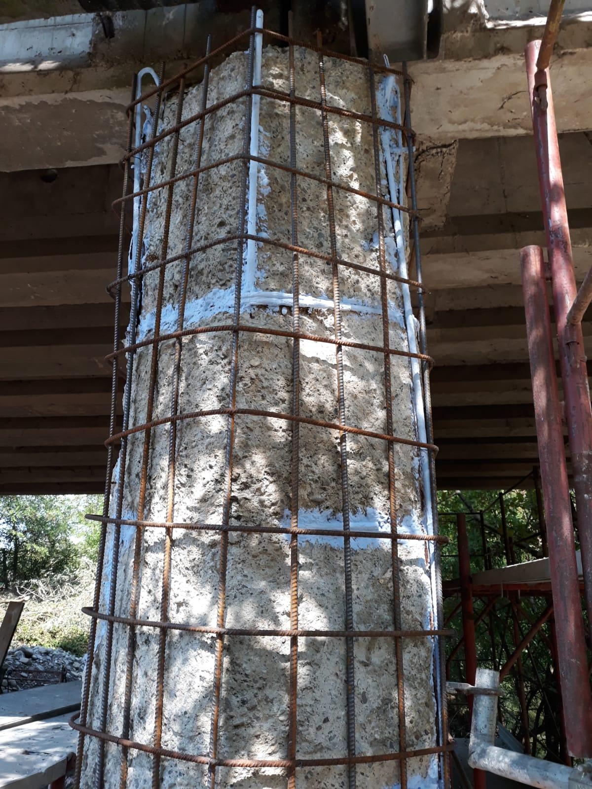 Rinforzo pila (pile) di un ponte - ITON SRL