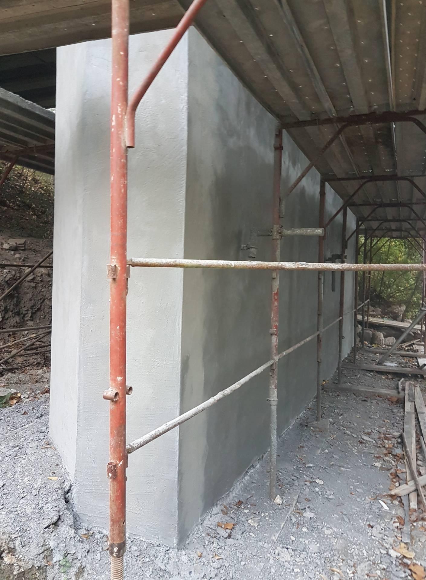 Pila di un ponte dopo la ricostruzione volumetrica - ITON SRL