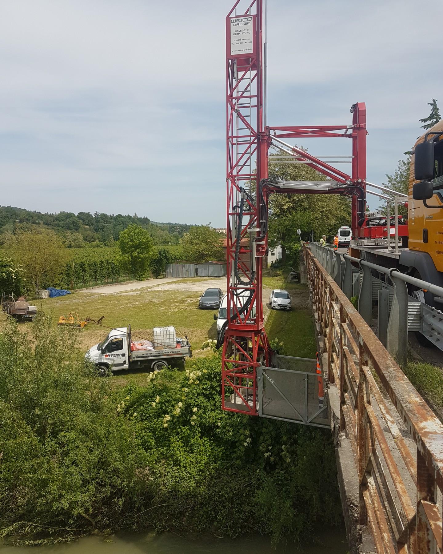 Ristrutturazione, consolidamento, lavori sul Ponte della Chiusa sul fiume Senio nel comune di Riolo Terme (RE) - ITON SRL: