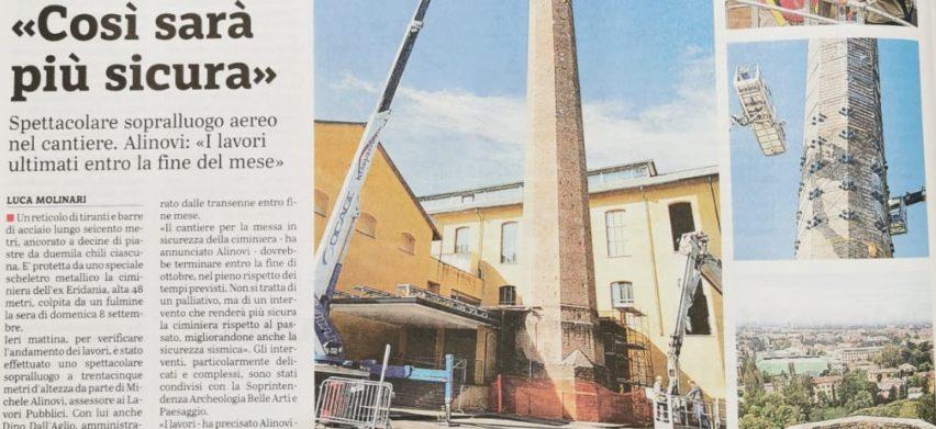 Ciminiera Ex Eridania Parma – Lavori di messa in sicurezza e consolidamento