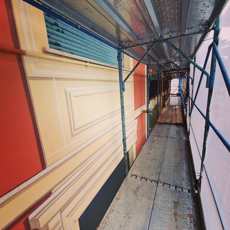Work in progress dei lavori di ITON S.r.l. in Liguria - Bonus facciate e bonus 110 in un palazzo a Bonassola (SP)